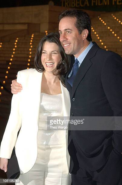 Jessica Seinfeld and Jerry Seinfeld during Vanity Fair Party To Celebrate Launch of 2003 Tribeca Film Festival at The State Supreme Courthouse in New...