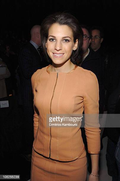 Jessica Seinfeld during Olympus Fashion Week Fall 2004 Narciso Rodriguez Front Row and Backstage at The Tent at Bryant Park in New York City New York...