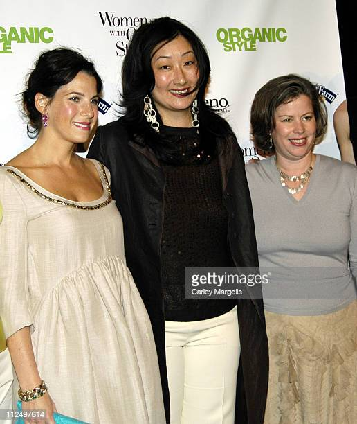 Jessica Seinfeld Jeanie Pyun editor of 'Organic Style' and Maria Rodale founding editor of 'Organic Style' and vice chairman of Rodale Inc