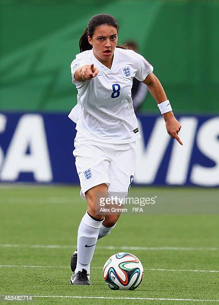 Jessica Sigsworth of England controles the ball during the FIFA U20 Women's World Cup Canada 2014 group C match between England and Mexico at Moncton...