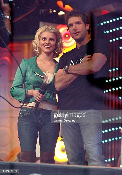 Jessica Simpson and Dane Cook during Jessica Simpson and Dane Cook Outside MTV's TRL Studios October 4 2006 at MTV Studios Times Square in New York...