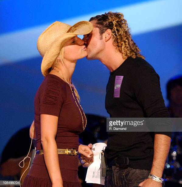 Jessica Simpson and David Bisbal during The 5th Annual Latin Grammy Awards Rehearsals Day Two at Shrine Auditorium in Los Angeles California United...