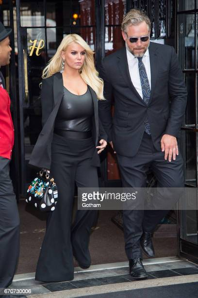 Jessica Simpson and Eric Johnson are seen in the East Village on April 20 2017 in New York City