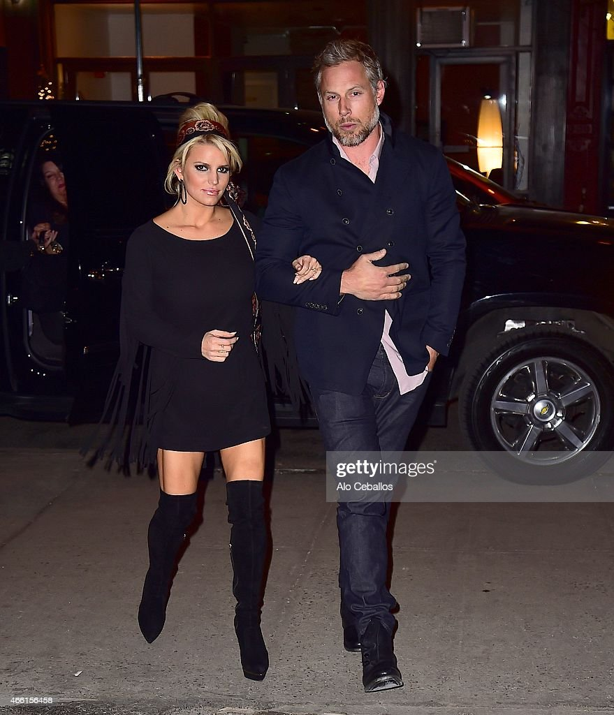 Jessica Simpson and Eric Johnson are seen in the Lower East Side on March 13 2015 in New York City