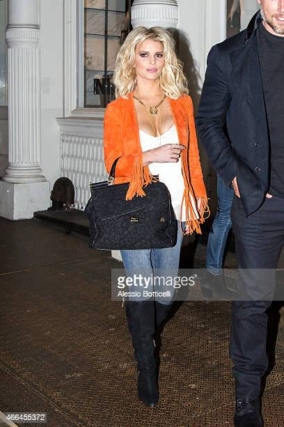 Jessica Simpson and Eric Johnson are seen shopping at Intermix in SoHo on March 15 2015 in New York City