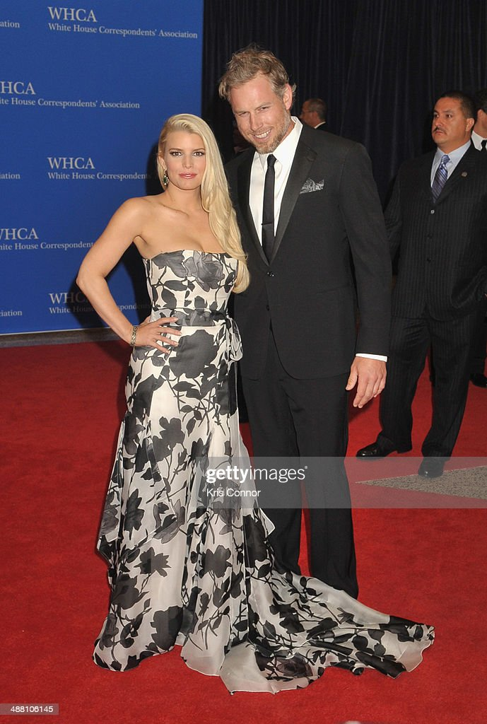 Jessica Simpson and Eric Johnson attends the 100th Annual White House Correspondents' Association Dinner at the Washington Hilton on May 3 2014 in...