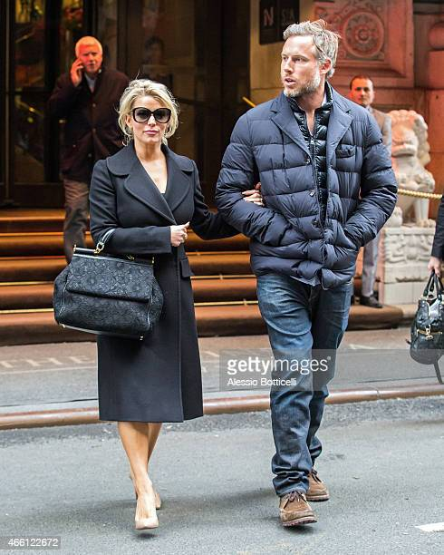 Jessica Simpson and husband Eric Johnson are seen in Midtown on March 13 2015 in New York City