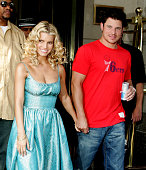Jessica Simpson and Nick Lachey during Jessica Simpson and Nick Lachey Sighting in New York City August 4 2005 at Streets of Manhattan in New York...