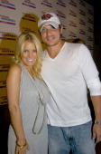 Jessica Simpson and Nick Lachey during Vivendi Universal Games E3 Kickoff Party at Avalon Hollywood at Avalon Hollywood in Hollywood California...