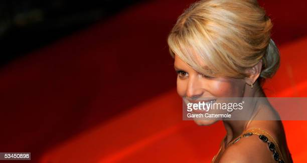 Jessica Simpson arrives at the UK Premiere of new film 'The Dukes Of Hazzard' at Vue Leicester Square on August 22 2005 in London England