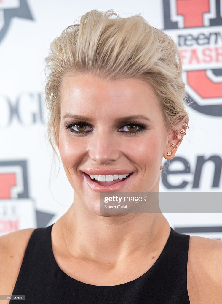Jessica Simpson attends Teen Vogue's 10th Annual Fashion University at Conde Nast on March 14 2015 in New York City