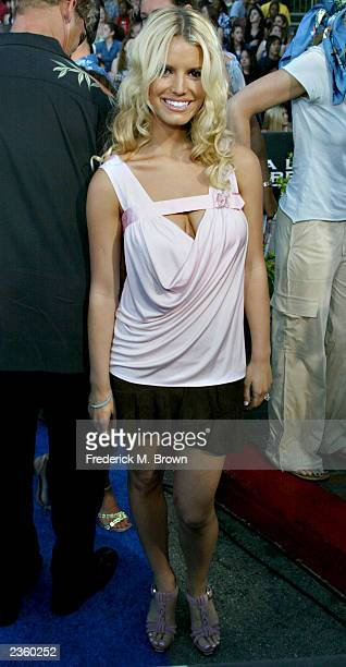 Jessica Simpson attends The 2003 Teen Choice Awards held at Universal Amphitheater on August 2 2003 in Universal City California