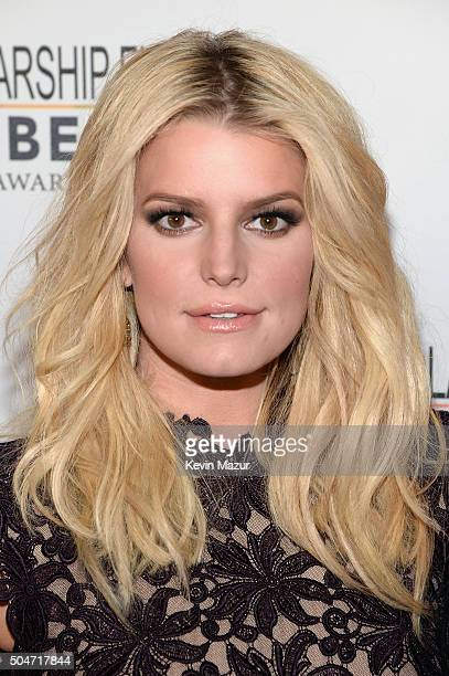 Jessica Simpson attends the 2016 YMA Fashion Scholarship Fund Geoffrey Beene National Scholarship Awards Dinner at Marriott Marquis Times Square on...
