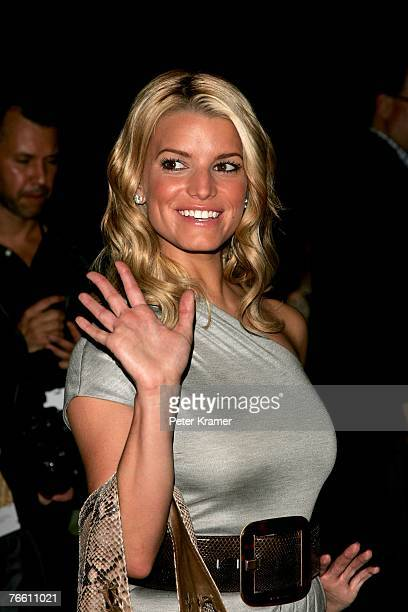 Jessica Simpson attends the Michael Kors 2008 Fashion Show at The Tent in Bryant Park during the MercedesBenz Fashion Week Spring 2008 on September 9...