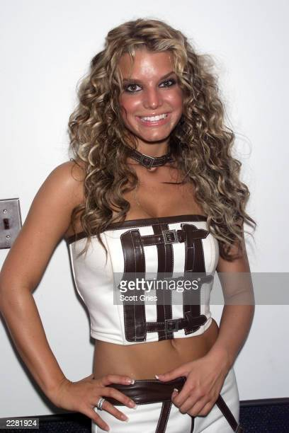 Jessica Simpson backstage at Z100's Zootopia concert at th Nassau Veterans Memorial Coliseum in Uniondale New York on June 1 2001