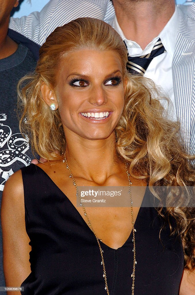 Jessica Simpson during 2005 MTV Movie Awards Press Room at Shrine Auditorium in Los Angeles California United States