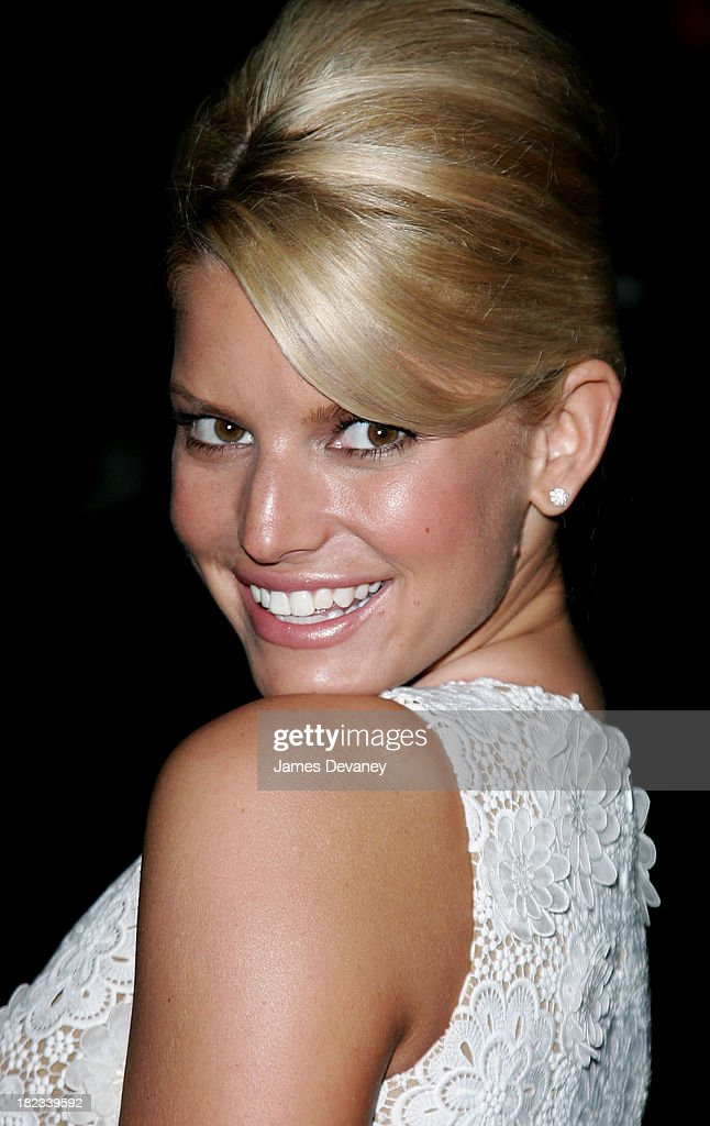 Jessica Simpson during 2006 CFDA Awards Departures at New York Public Library in New York City New York United States