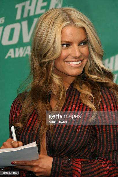 Jessica Simpson during 2006 MTV Movie Awards Arrivals at Sony Pictures in Culver City California United States
