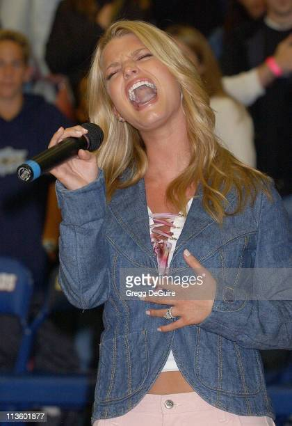 Jessica Simpson during Frankie Muniz Hosts 'HoopLA' a Celebrity Basketball Game Which Benefits The Starlight Children's Foundation at Crossroads...
