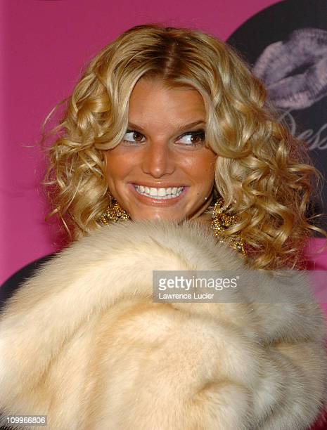 Jessica Simpson during Jessica Simpson and Nick Lachey Host Dessert Beauty Launch Party Pink Carpet Arrivals at Marquee in New York City New York...