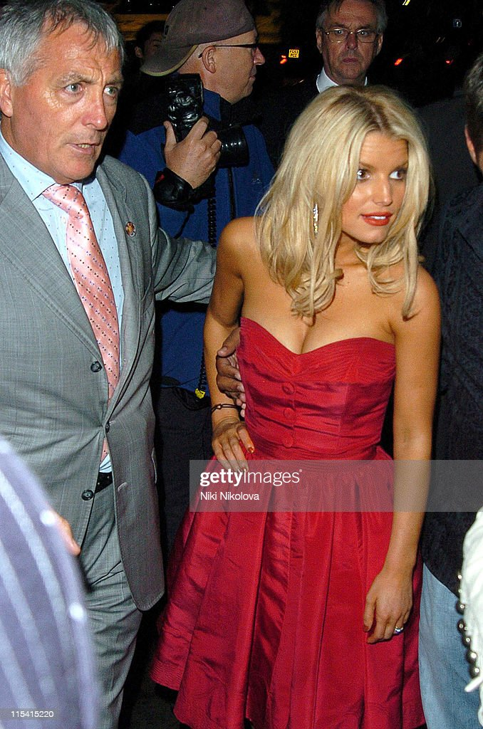 Jessica Simpson during 'The Dukes of Hazzard' London Premiere - After Party at Texas Embassy Cantina in London, United Kingdom.