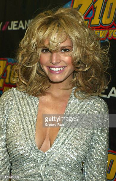 Jessica Simpson during Z100's Jingle Ball 2003 Press Room at Madison Square Garden in New York City New York United States