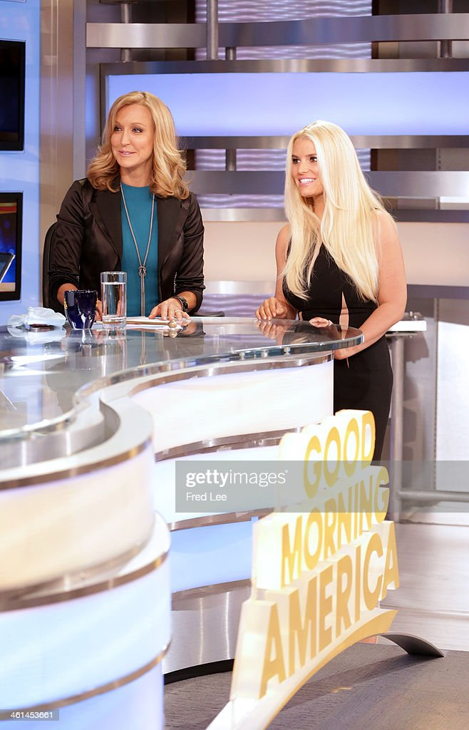 AMERICA - Jessica Simpson is a guest on 'Good Morning America,' 1/7/14, airing on the ABC Television Network. (Photo by Fred Lee/ABC via Getty Images) LARA