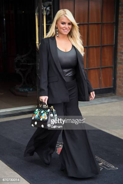 Jessica Simpson is seen in the East Village on April 20 2017 in New York City