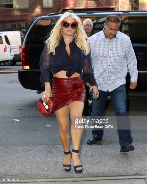 Jessica Simpson is seen on August 08 2017 in New York City