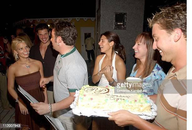 Jessica Simpson Nick Lachey Chris Kirkpatrick Jamie Lynn Discala Kathy Griffin and Lance Bass