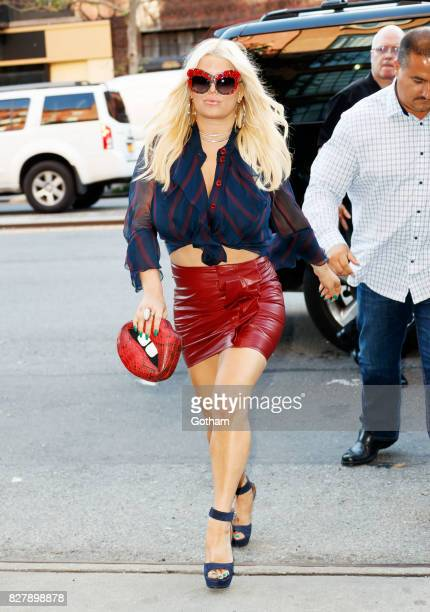 Jessica Simpson on August 8 2017 in New York City