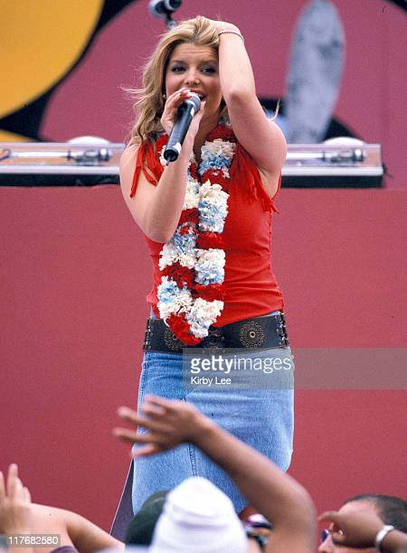 Jessica Simpson performs during halftime of the AFCNFC Pro Bowl at Aloha Stadium on Sunday Feb 9 2002