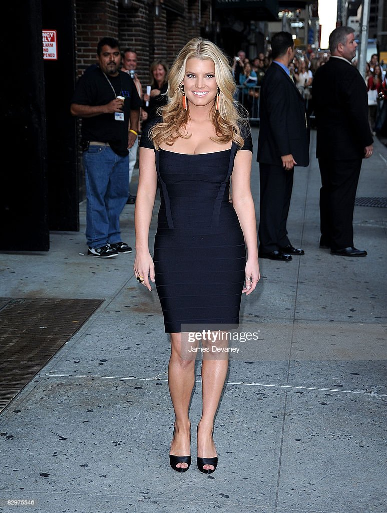 <a gi-track='captionPersonalityLinkClicked' href=/galleries/search?phrase=Jessica+Simpson&family=editorial&specificpeople=171513 ng-click='$event.stopPropagation()'>Jessica Simpson</a> visits 'Late Show with David Letterman' at the Ed Sullivan Theatre on September 11, 2008 in New York City.