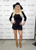 Jessica Simpson wearing Jessica Simpson Collection attends Jessica Simpson Collection Fashion Show at Nordstrom on September 20 2014 in Los Angeles...