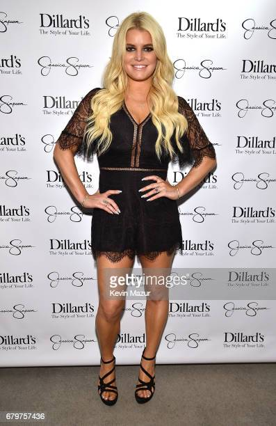 Jessica Simpson wearing Jessica Simpson Collection hosts a spring style event benefitting The Boys and Girls Clubs of Waco TX at at Dillard's on May...