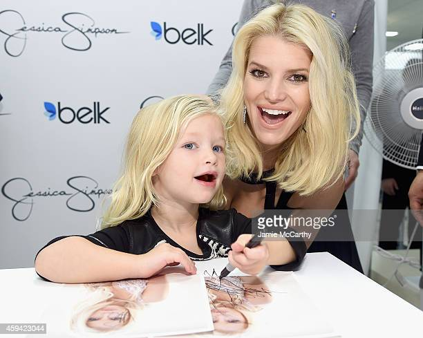 Jessica Simpson wearing Jessica Simpson Collection with Maxwell Drew Johnson wearing Jessica Simpson Girls attend Jessica Simpson and Ashlee Simpson...