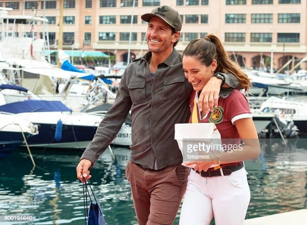 Jessica Springsteen and Nic Roldan attend Global Champions Tour of Monaco 2017 on June 23 2017 in Monaco Monaco