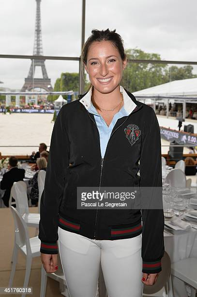 Jessica Springsteen attends the Paris Eiffel Jumping presented by Gucci at ChampdeMars on July 6 2014 in Paris France