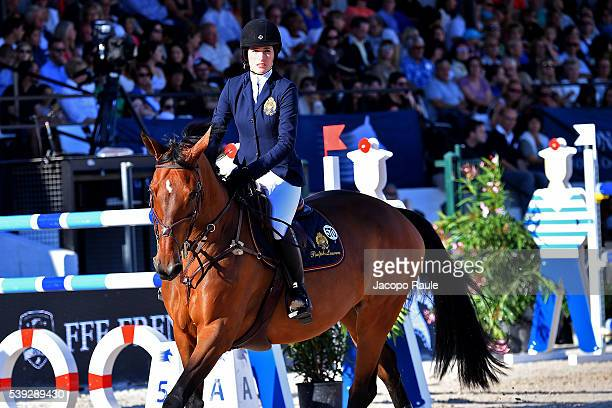 Jessica Springsteen competes at International Longines Global Champion Tour Day 2 on June 10 2016 in Cannes France