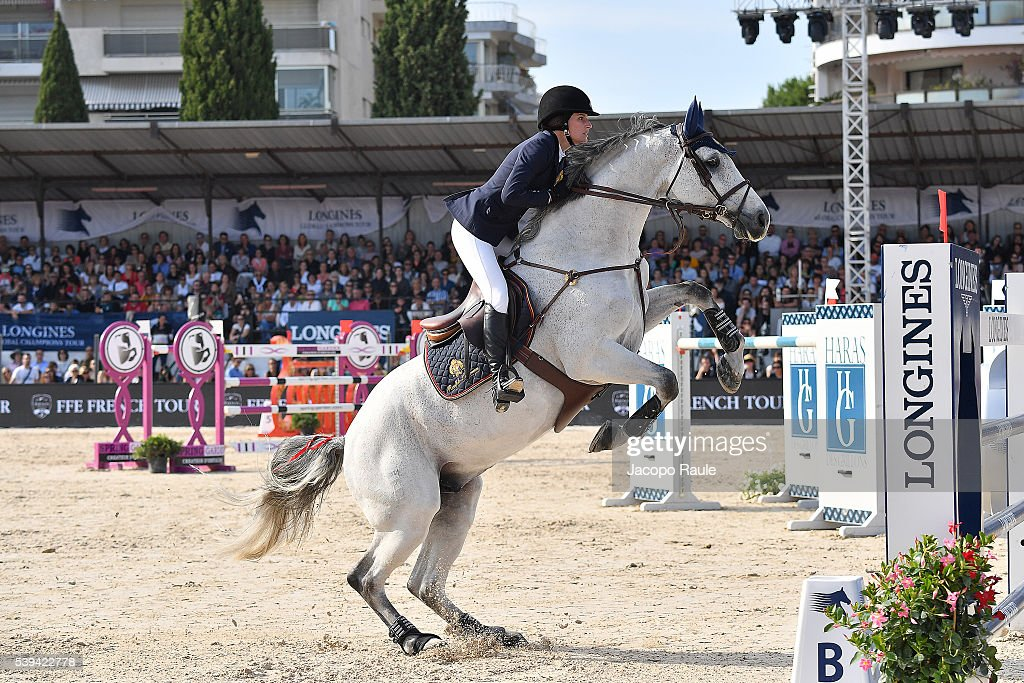 Jessica Springsteen competes at International Longines Global Champion Tour Day 3 on June 11 2016 in Cannes France