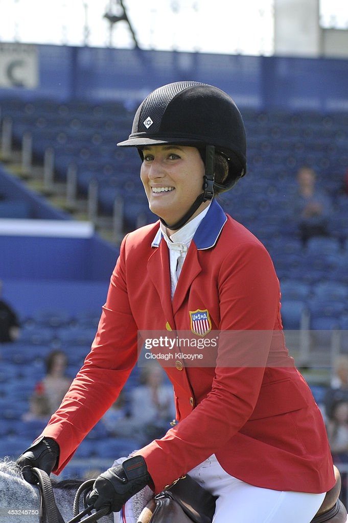 <a gi-track='captionPersonalityLinkClicked' href=/galleries/search?phrase=Jessica+Springsteen+-+Equestrian&family=editorial&specificpeople=5635588 ng-click='$event.stopPropagation()'>Jessica Springsteen</a> competes during the Speed Stakes International Competition 1 at the Dublin Horse Show 2014 on August 6, 2014 in Dublin, Ireland.