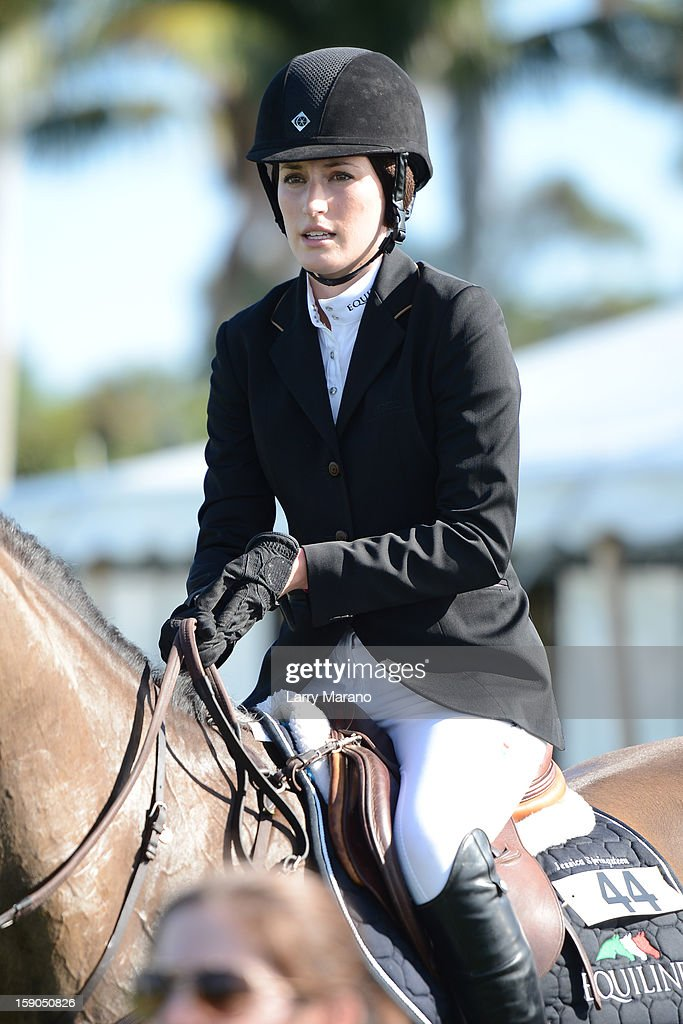 Jessica Springsteen competes during the Trump Invitational Grand Prix at Mar-a-Lago on January 6, 2013 in Palm Beach, Florida.