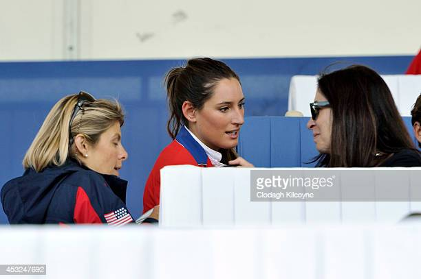 Jessica Springsteen joins her family for dinner in the Presidents box during the Dublin Horse Show 2014 on August 6 2014 in Dublin Ireland
