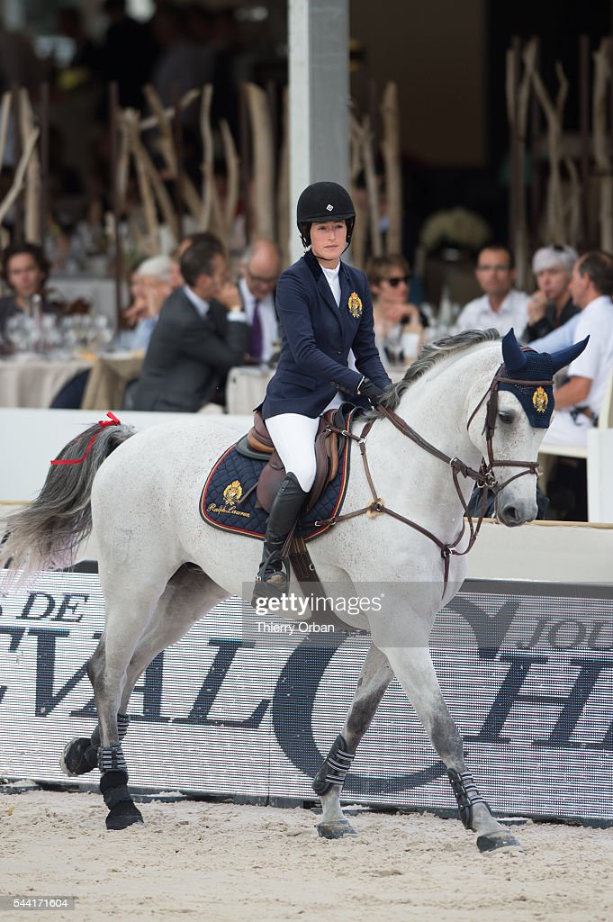 Jessica Springsteen of United States competes at the Paris Eiffel Jumping 2016 held at Parc de Bagatelle on July 1, 2016 in Paris, France.