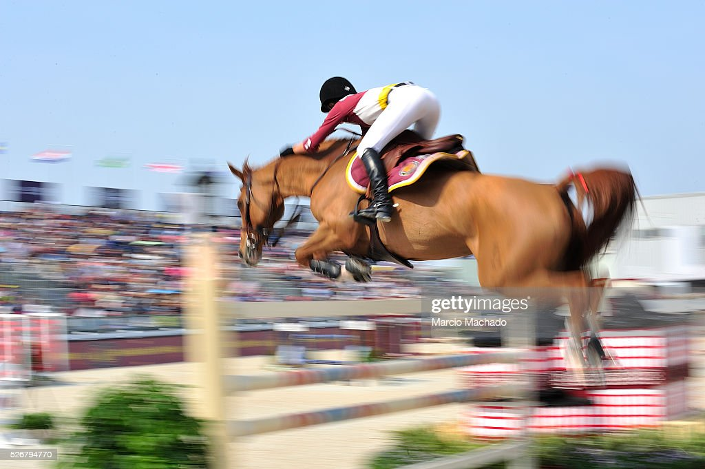 <a gi-track='captionPersonalityLinkClicked' href=/galleries/search?phrase=Jessica+Springsteen&family=editorial&specificpeople=5635588 ng-click='$event.stopPropagation()'>Jessica Springsteen</a> of USA competes during the Global Champions League Team Competition, second round on May 1, 2016 in Shanghai, China.