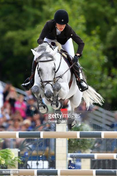 Jessica SPRINGSTEEN riding CYNAR VA during the Massimo Dutti Eiffel Challenge of the Longines Paris Eiffel Jumping on July 2 2017 in Paris France