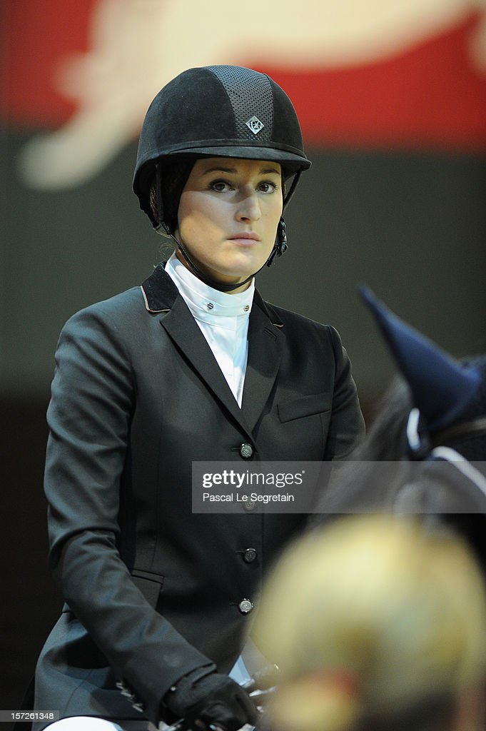 Jessica Springsteen ridres during the Gucci Paris Masters 2012 at Paris Nord Villepinte on November 30, 2012 in Paris, France.