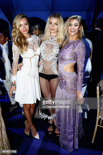Jessica Stam and Kelly Rohrbach attends the Cocktail reception during The Leonardo DiCaprio Foundation 2nd Annual SaintTropez Gala at Domaine Bertaud...