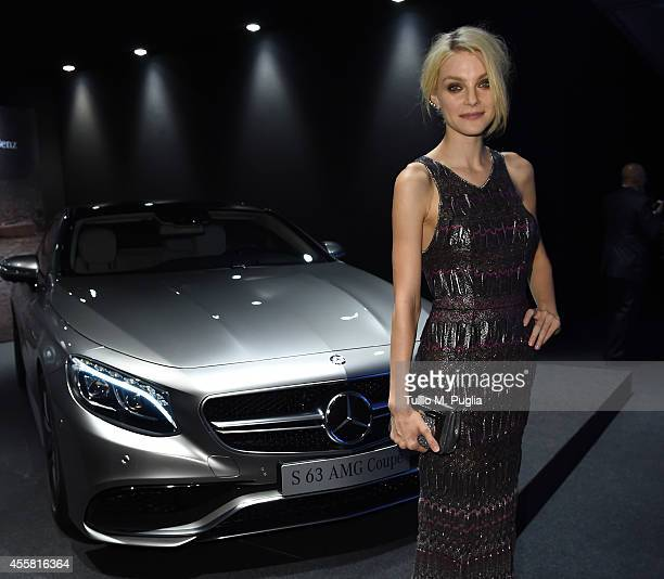 Jessica Stam attends amfAR Milano 2014 as a part of Milan Fashion Week Womenswear Spring/Summer 2015 on September 20 2014 in Milan Italy