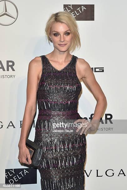 Jessica Stam attends amfAR Milano 2014 during Milan Fashion Week Womenswear Spring/Summer 2015 on September 20 2014 in Milan Italy